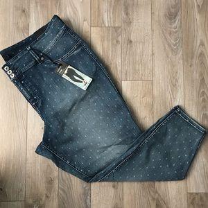 NWT Torrid Polka Dot Jegging Jeans 24R